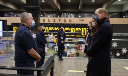 Euston Station's surprise visitors, the Duke and Duchess of Cambridge